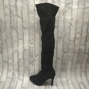 Faux Suede Over The Knee Boots NWOT